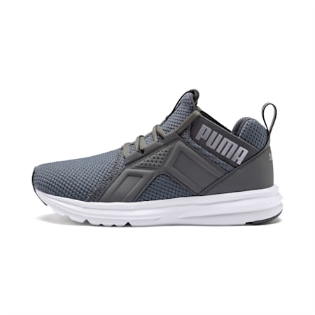 Enzo Weave Kids' Running Shoes, CASTLEROCK-Puma Silver, small-IND