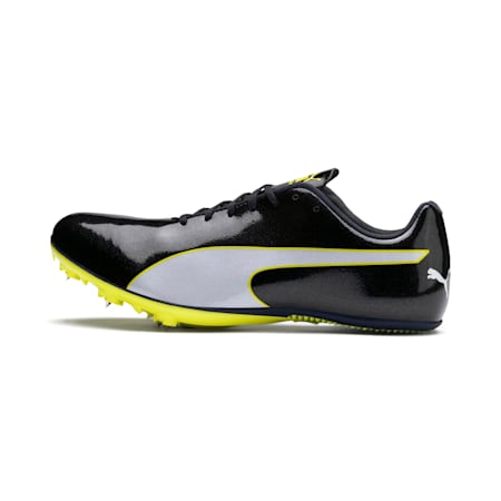 evoSPEED Sprint 9 Running Shoes, Black-Blazing Yellow-White, small-IND