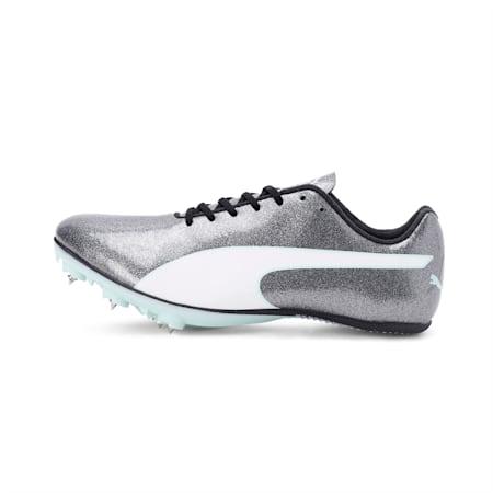 evoSPEED Sprint 9 Women's Running Shoes, Steel Gray-Fair Aqua-White, small-IND