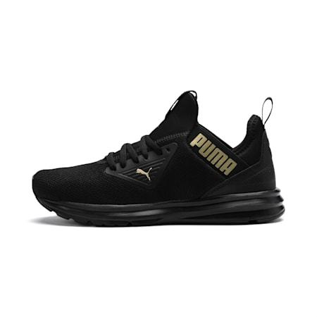 Enzo Beta Women's Running Shoes, Puma Black-Metallic Gold, small-IND