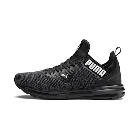 Enzo Beta Woven Men's Running Shoes, Puma Black-Asphalt, small