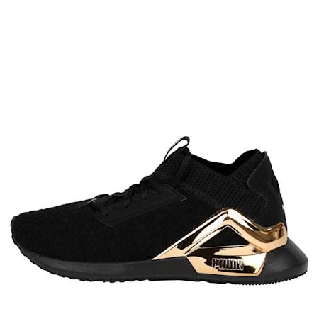 Rogue Metallic Women's Running Shoes, Puma Black-Metallic Gold, small-IND