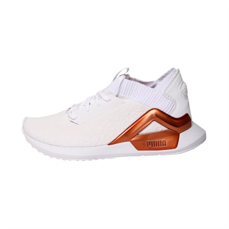 Rogue Metallic Women's Running Shoes, Puma White-Rose Gold, small-IND