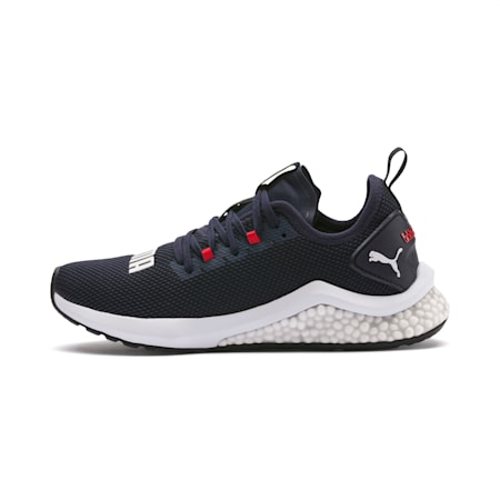 HYBRID NX Running Shoes JR, Peacoat-High Risk Red-White, small