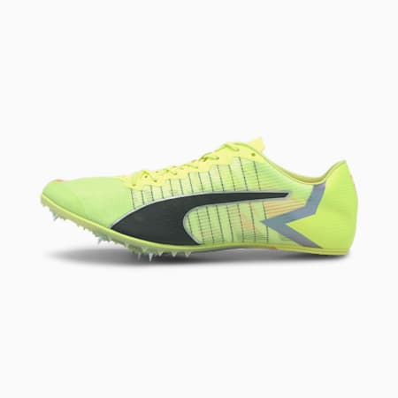 evoSPEED Tokyo Future Track Spikes, Fizzy Yellow-Black-Nrgy Peac, small