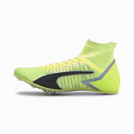 evoSPEED Tokyo Future Mid Track Spikes, Fizzy Yellow-Black-Nrgy Peac, small