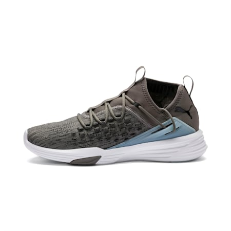 Mantra Men's Shoes, Charcoal Gray-Puma White, small-IND