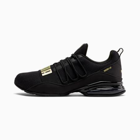 CELL Regulate Woven Men's Running Shoes, Puma Black-Metallic Gold, small