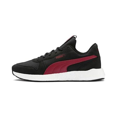 NRGY Neko Retro Men's Running Shoes, Puma Black-Rhubarb, small-IND