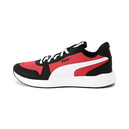 NRGY Neko Retro Men's Running Shoes, Puma Black-High Risk Red, small-IND