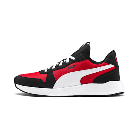 NRGY Neko Retro Men's Running Shoes, Puma Black-High Risk Red, small-SEA