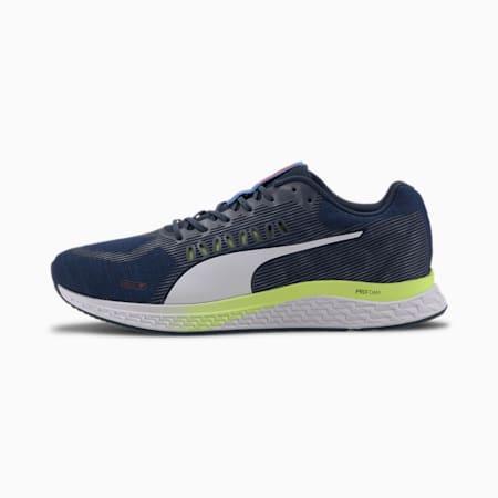 SPEED SUTAMINA ProFoam Running Shoes, Dark Denim-Blue-Yellow-White, small-IND