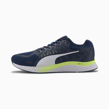 SPEED Sutamina Men's Running Shoes, Dark Denim-Blue-Yellow-White, small