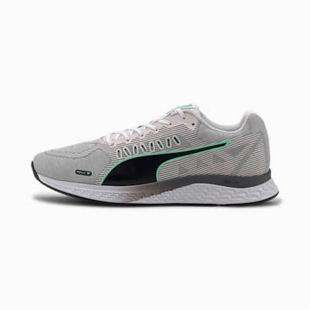 SPEED Sutamina Men's Running Shoes, White-High Rise-Green-Black, small