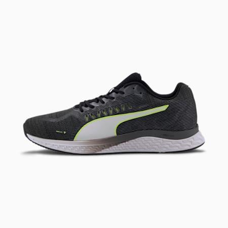 Zapatos para correr SPEED Sutamina para hombre , Negro-CASTLEROCK-Amarillo-Blanco, pequeño