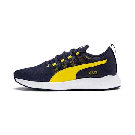 NRGY Neko Turbo Men's Running Shoes, Peacoat-White-Blazing Yellow, small-IND