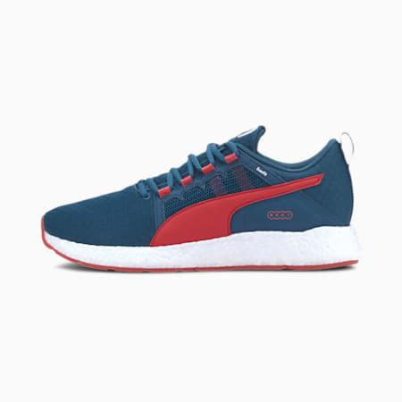NRGY Neko Turbo Men's Running Shoes, Digi-blue-High Risk Red, small-IND