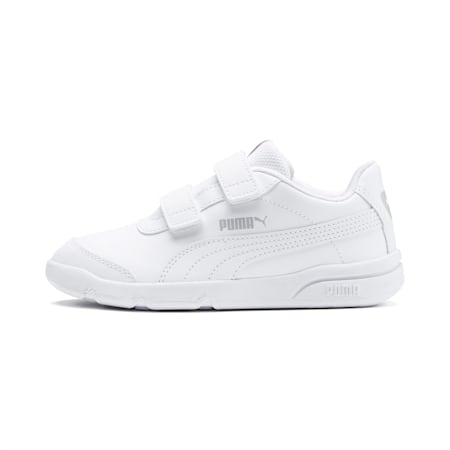Stepfleex 2 SL VE V Kids' Trainers, Puma White-Puma White, small