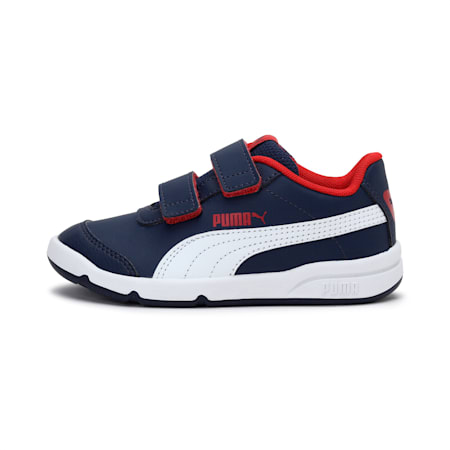 Stepfleex 2 SL VE V Kids' Shoes, Peacoat-Puma White-Flame Scarlet, small-IND