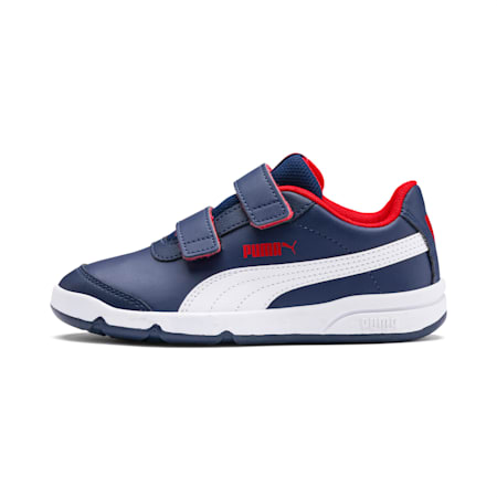 Stepfleex 2 SL VE V Kids' Trainers, Peacoat-White-Flame Scarlet, small-SEA