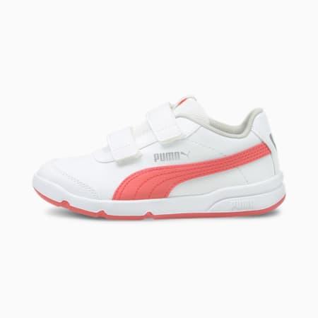 Stepfleex 2 SL VE V Kids' Trainers, Puma White-Sun Kissed Coral, small-GBR