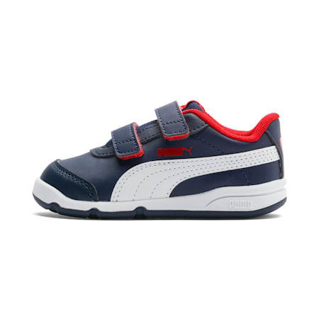 Stepfleex 2 SL VE V Babies' Trainers, Peacoat-White-Flame Scarlet, small-SEA
