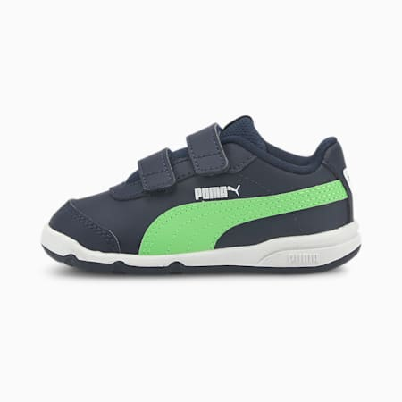 Stepfleex 2 SL VE V Babies' Trainers, Peacoat-Summer Green-White, small
