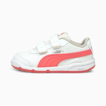 Stepfleex 2 SL VE V Babies' Trainers, Puma White-Sun Kissed Coral, small