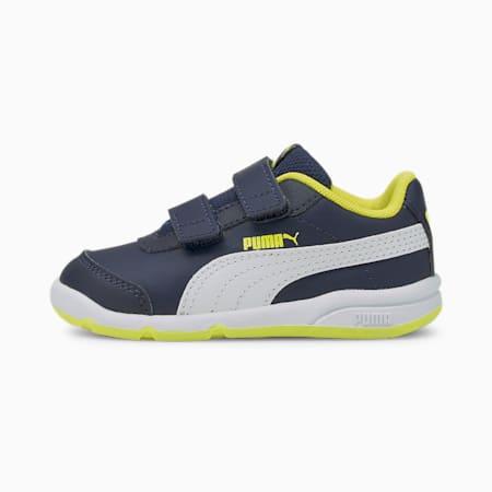 Stepfleex 2 SL VE V Babies Sneaker, Peacoat-Puma White-Yellow, small