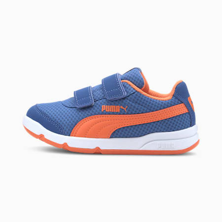 Stepfleex 2 Mesh VE V Kids Sneaker, Brt Cobalt-Firecracker-White, small