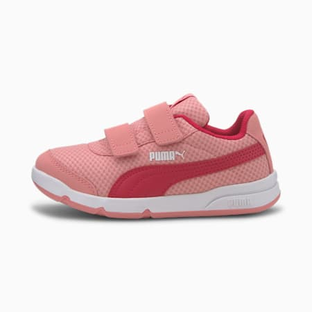 Stepfleex 2 Mesh VE V Kids' Trainers, Peony-BRIGHT ROSE-Puma White, small-SEA