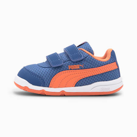 Stepfleex 2 Mesh VE V Babies' Trainers, Bt Cobalt-Firecracker-White, small-SEA