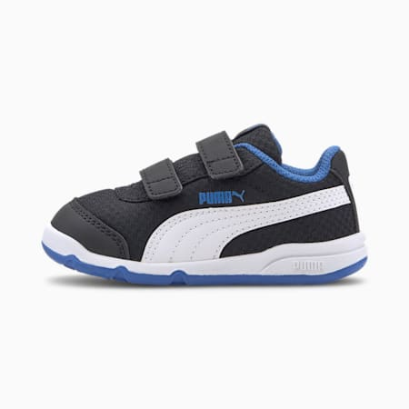 Stepfleex 2 Mesh VE V Babies' Trainers, Puma Black-White-Palace Blue, small