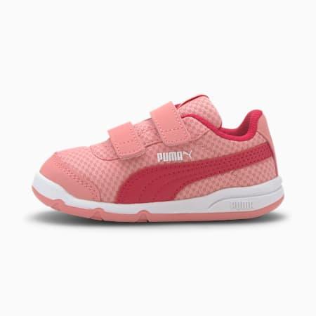 Stepfleex 2 Mesh VE V Babies' Trainers, Peony-BRIGHT ROSE-Puma White, small