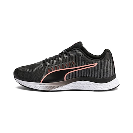 Speed Sutamina Women's Running Shoes, Puma Black-Gray-Peach, small-IND