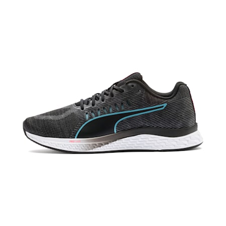 SPEED SUTAMINA Women's Running Shoes, Black-Milky Blue-Pink Alert, small