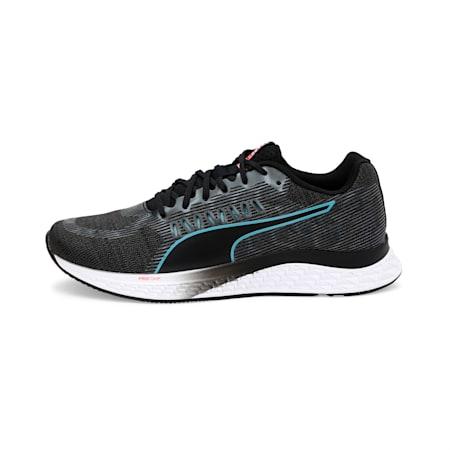 SPEED Sutamina ProFoam Women's Running Shoes, Black-Milky Blue-Pink Alert, small-IND