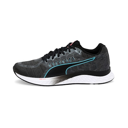 Speed Sutamina Women's Running Shoes, Black-Milky Blue-Pink Alert, small-IND