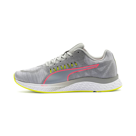 SPEED Sutamina Women's Running Shoes, Quarry-Yellow Alert-Pink, small
