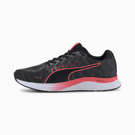 SPEED Sutamina Women's Running Shoes, Puma Black-Pink Alert, small