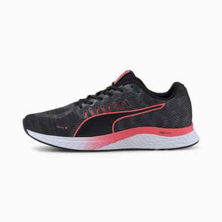 Speed Sutamina Women's Running Shoes, Puma Black-Pink Alert, small-SEA