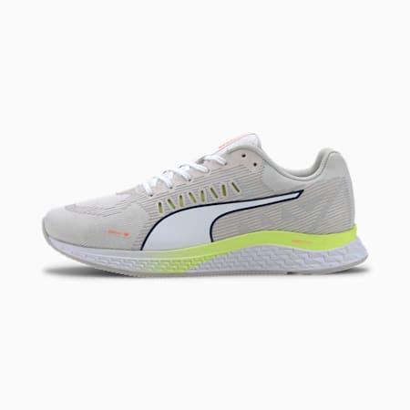 Speed Sutamina Women's Running Shoes, White-Gray-Yellow -Orange, small