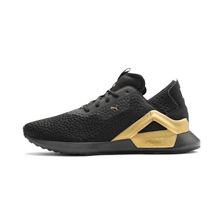 Rogue X Metallic Men's Shoes, Puma Black-Gold, small-IND