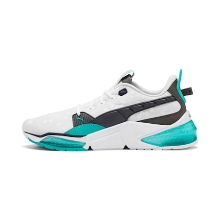 LQDCELL Optic Training Shoes, Puma White-Blue Turquoise, small-IND