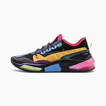 LQDCELL Optic Sheer Training Shoes, Puma Blk-Nrgy Roe-Ble Turqse, small