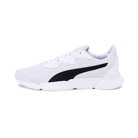 INTERFLEX Running Shoes, White-Black-High Risk Red, small-IND