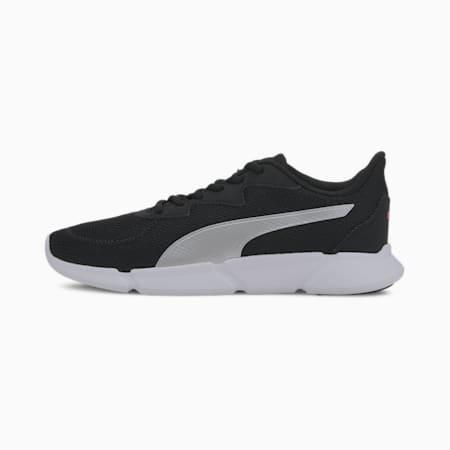 INTERFLEX SoftFoam+ Running Shoes, Black-Metallic Silver-Pink, small-IND