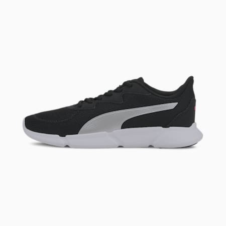 INTERFLEX Running Shoes, Black-Metallic Silver-Pink, small-SEA