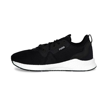 NRGY Star Femme Women's Running Shoes, Black-Silver-White, small-IND