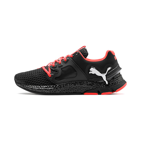 HYBRID Sky Men's Running Shoes, Black-White-Nrgy Red, small-IND